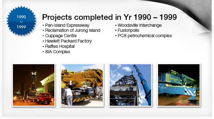 Project in Year 1990 to 1999